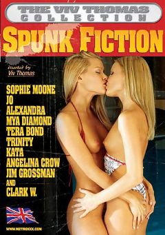 "Adult entertainment movie ""Spunk Fiction"" starring Sophie Moon, Monica Sweet & Mr. Clark. Produced by Metro Media Entertainment."