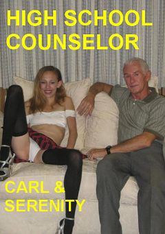 "Adult entertainment movie ""High School Counselor"" starring Serenity (III) & Carl Hubay. Produced by Hot Clits Video."