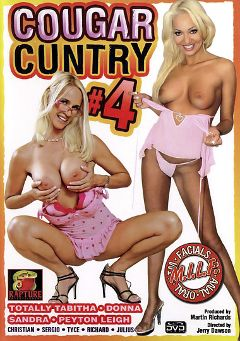 "Adult entertainment movie ""Cougar Cuntry 4"" starring Totally Tabitha, Donna & Tyce. Produced by Rapture Entertainment."