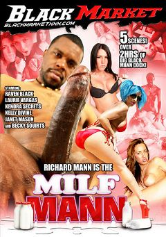 "Adult entertainment movie ""MILF Mann"" starring Janet Mason, Kendra Secrets & Kelly Divine. Produced by Black Market Entertainment."