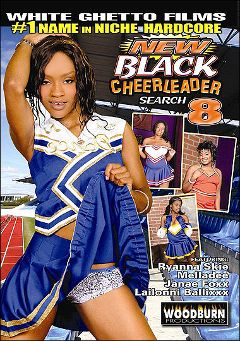 "Adult entertainment movie ""New Black Cheerleader Search 8"" starring Riyanna Skie, Melladee & Lailonni Ballixx. Produced by Woodburn Productions."