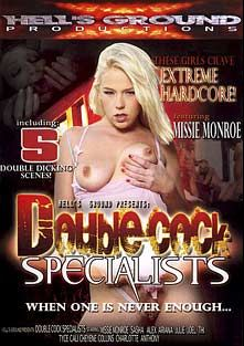 Double Cock Specialists, starring Missy Monroe, Cali Foxx, Charlotte Lee, Thi Michelle, Sascha Libido, Ariana Jollee, Anthony Hardwood, Cheyne Collins, Joel Lawrence, Tyce Bune and Alex Sanders, produced by Hell's Ground Production.