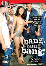 """Just Added presents the adult entertainment movie """"Bang, Bang, Bang""""."""