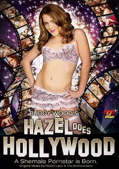 "Adult entertainment movie ""Hazel Does Hollywood"" starring Hazel Tucker, Buddy Wood & Cassie Laraway. Produced by Grooby Productions."