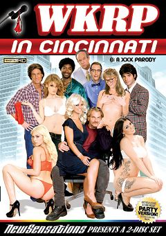 "Adult entertainment movie ""WKRP In Cincinnati: A XXX Parody Part 2"" starring Holly Heart, Kagney Linn Karter & Andy San Dimas. Produced by New Sensations."
