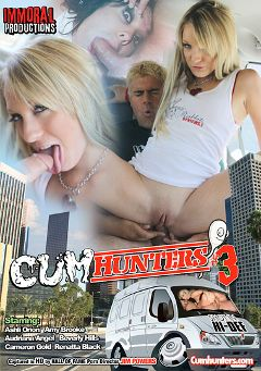 "Adult entertainment movie ""Cum Hunters 3"" starring Amy Brooke, Ashli Orion & Markus Destin. Produced by Immoral Productions."