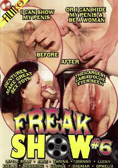 "Adult entertainment movie ""Freak Show 6"" starring Little Billy (o), Jane Rolandia & Sunshine Anderson. Produced by Filmco."