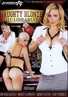 Naughty Blonde Milf Librarians, starring Tatum Pierce, Holly Sampson, Heidi Mayne, Brooke Haven, Dane Cross, Barrett Blade, Eric Masterson and Jay Ashley, produced by Sin City.