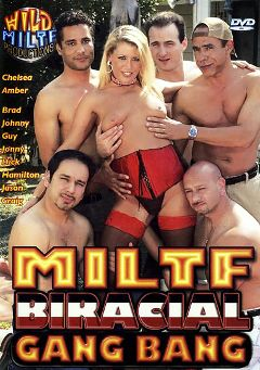 "Adult entertainment movie ""MILTF Biracial Gang Bang"" starring Amber Williams, Craig Williams & Chelsea *. Produced by Wild MILTF Productions."