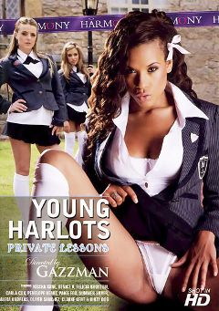 "Adult entertainment movie ""Young Harlots: Private Lessons"" starring Felicia Brottom, Keisha Kane & Denise Klarskov. Produced by Harmony Films Ltd.."