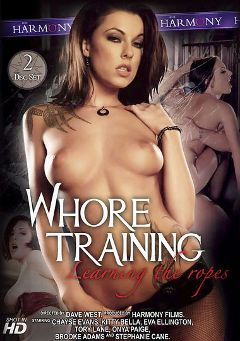 "Adult entertainment movie ""Whore Training"" starring Chayse Evans, Onya Paige & Brooke Lee Adams. Produced by Harmony Films Ltd.."