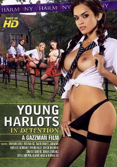 "Adult entertainment movie ""Young Harlots: In Detention"" starring Jasmine Web, Pearly Blue & Charley Chase. Produced by Harmony Films Ltd.."
