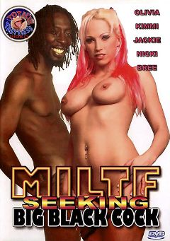 "Adult entertainment movie ""MILTF Seeking Big Black Cock"" starring Olivia Saint, De Shawn & Kimmi. Produced by Totally Tasteless Video."