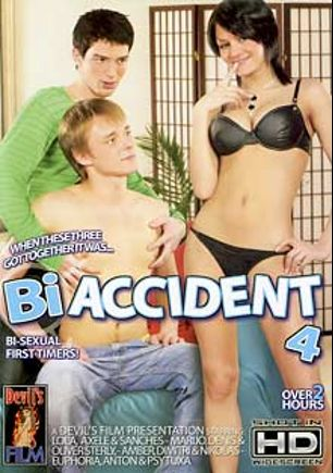 Bi Accident 4, starring Rebecca Hilton, Bonny Anderson, Olga Barz, Psytuxa, Oliver Sterly, Sanches, Axele, Nikolas, Anton, Denis, Dimitri and Amber, produced by Devils Film and Devil's Film.
