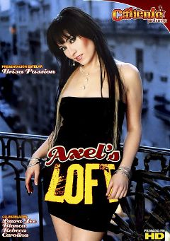 "Adult entertainment movie ""Axel's Loft"" starring Brisa Passion, Laura Lee & Carolina (f). Produced by Caliente Pictures."