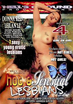 "Adult entertainment movie ""Hot And Sensual Lesbians"" starring Donna Red, Leilani Li & Vanity Cristol. Produced by Hell's Ground Production."