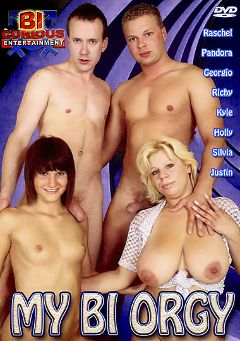 "Adult entertainment movie ""My Bi Orgy"" starring Georgio *, Kyle & Raschel. Produced by Bi Curious Entertainment."