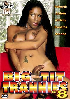 "Adult entertainment movie ""Big Tit Trannies 8"" starring Mirany Ribeiro, Tommy Castellani & Sabrina Rios. Produced by Lady Boy Pictures."