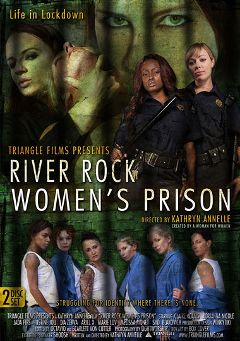 "Adult entertainment movie ""River Rock Women's Prison"" starring Dia Zerva, Syd Blakovich & Claire Adams. Produced by Triangle Films."