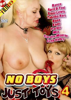 "Adult entertainment movie ""No Boys Just Toys 4"" starring April O'Toole, Raven & Payton Leigh. Produced by Filmco."