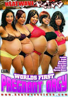 "Adult entertainment movie ""Worlds First Pregnant Orgy"" starring Jackeline, Honei Doo-Melons & Bonnie Blaze. Produced by Heatwave Entertainment."