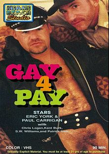 Gay 4 Pay, starring Eric York, Paul Carrigan, S.W. Williams, Kent Burke, Chris Logan and Patrick Ives, produced by Miami Beach Studios.