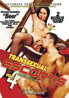 "Adult entertainment movie ""Transsexual Escorts 4"" starring Beer (o), Thayana De Castro & Penelope Jolie. Produced by Ultimate T-Girl Productions."