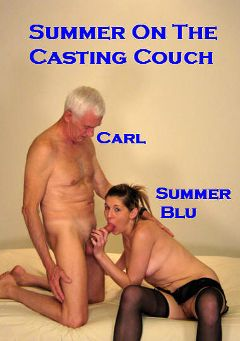 "Adult entertainment movie ""Summer On The Casting Couch"" starring Summer Blu & Carl Hubay. Produced by Hot Clits Video."