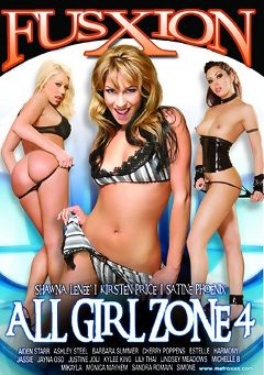 "Adult entertainment movie ""All Girl Zone 4"" starring Satine Phoenix, Shawna Lenee & Kirsten Price. Produced by Metro Media Entertainment."