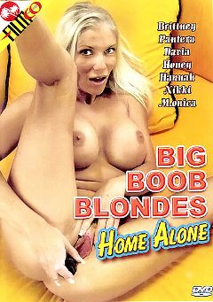 "Adult entertainment movie ""Big Boob Blondes Home Alone"" starring Davia Ardell, Hannah Foxxx & Honey Moons. Produced by Filmco."