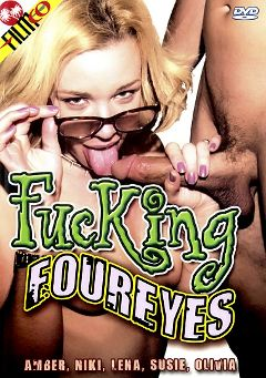 "Adult entertainment movie ""Fucking Foureyes"" starring Amber Lee, Uncle George & Tom Cruisio. Produced by Filmco."