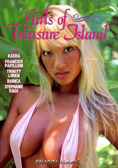 "Adult entertainment movie ""Girls Of Treasure Island"" starring Kasha (f), Barry Wood & Francois Capillion. Produced by Cal Vista Classic."