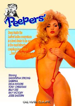 "Adult entertainment movie ""Peepers"" starring Samantha Strong, Toni Christian & Sabrina Jurgens. Produced by Cal Vista Classic."