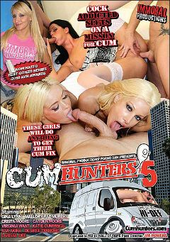 "Adult entertainment movie ""Cum Hunters 5"" starring Mallory Rae, Crista Moore & Cayden Moore. Produced by Immoral Productions."