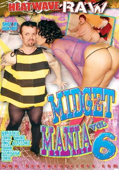 "Adult entertainment movie ""Midget Mania 6"" starring Pocipopo, Niki Vohn & Kicsi M.. Produced by Heatwave Entertainment."