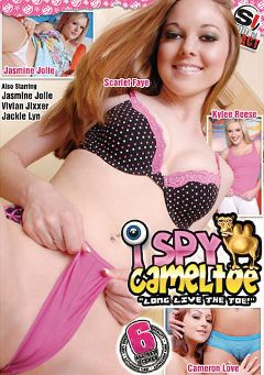 "Adult entertainment movie ""I Spy Cameltoe"" starring Kylee West, Jasmine Jolie & Cameron Love. Produced by Sudden Impact."