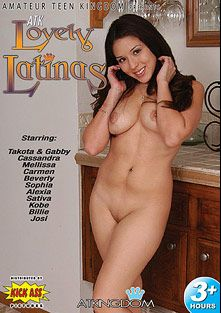 ATK Lovely Latinas, starring Takota, Mellissa, Kobe, Billie, Beverly, Josie, Sophia Lynn, Cassandra Cruz, Carmen Pena, Alexia, Gabby, Sativa Rose, Claudio Meloni, Dick Delaware and Dino Bravo, produced by Amateur Teen Kingdom and Kick Ass Pictures.