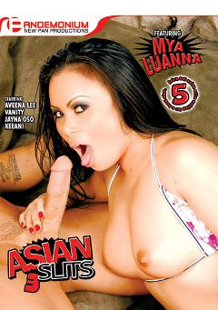 "Adult entertainment movie ""Asian Slits 3"" starring Mya Luanna, Vanity (f) & Keeani Lei. Produced by Pandemonium."