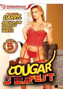 "Adult entertainment movie ""Cougar Sex Fest"" starring Darryl Hanah, Rebecca (f) & Erika Kole. Produced by Pandemonium."