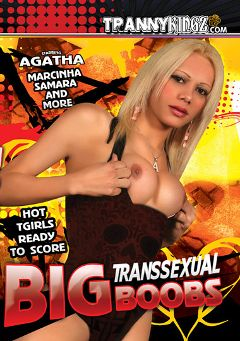 "Adult entertainment movie ""Big Transsexual Boobs"" starring Agatha (o), Sants & Eneit. Produced by Ultimate T-Girl Productions."