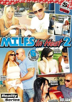 "Adult entertainment movie ""MILFS In Heat 2"" starring Misty Vonage, Kendra Secrets & Demi Delia. Produced by Sudden Impact."