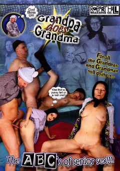 "Adult entertainment movie ""Grandpa Does Grandma"" starring Noe (f), Katy & Sex Gabor. Produced by Robert Hill Releasing Co.."
