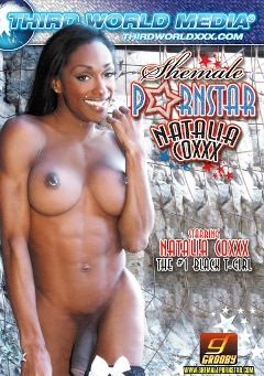 "Adult entertainment movie ""Shemale Pornstar: Natalia Coxxx"" starring Natalia Coxxx. Produced by Third World Media."