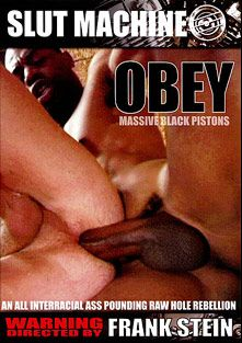 Obey Massive Black Pistons, starring Chase Coxxx, Justin Jameson, Dean Dalevor, Christian Baxter, Sage Daniels, Luke Cross, Jack Simmons, Kamrun and Drew Peters, produced by Slut Machine and Frank Stein.