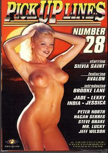 Pick Up Lines 28, starring Silvia Saint, Lexxy, Jade De Luxor, Hakan Serbes, Avalon, Mark Dark, Jeff Wilson, Brooke Lane, India, Jessica Jewel, Steve Drake and Peter North, produced by Silverstone.