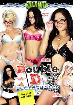 "Adult entertainment movie ""Double D Secretaries"" starring Jessica Bangkok, Angelica Raven & Jayden Jaymes. Produced by Venom Digital Media."