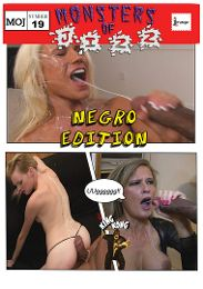 "Featured Category - Interracial presents the adult entertainment movie ""Monsters Of Jizz 19""."