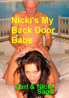 "Adult entertainment movie ""Nikki's My Back Door Babe"" starring Nicki Sage & Carl Hubay. Produced by Hot Clits Video."