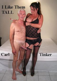 "Adult entertainment movie ""I Like Them Tall"" starring Tinker & Carl Hubay. Produced by Hot Clits Video."