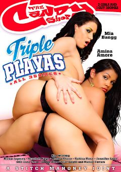 "Adult entertainment movie ""Triple Playas"" starring Amina Amore, Mia Bangg & Alexia Stone. Produced by Candy Shop."